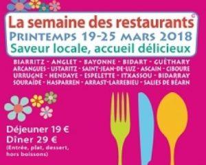 semaine des restaurants mars 2018