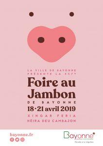 affiche foire au jambon bayonne 2019